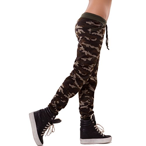 Toocool - Pantaloni donna tuta harem elastico mimetici camouflage sport camo nuovi A-200 Mimetico