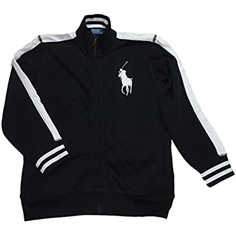Ralph Lauren Niños sudadera chaqueta Big Pony Polo Jinete Marca Logo Blanco y Negro (122)
