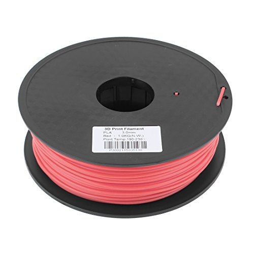 Preisvergleich Produktbild sourcingmap® Rot 3mm Pla 1kg / 2, 2lb 3D Drucker Filament für RepRap Makerbot Ding-O-Matic de