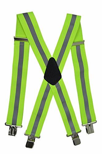 Bretelle alta visibilità con superficie riflettente, abbigliamento da lavoro - giallo (x-forma), 5cm