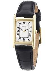 Seiko Damen-Armbanduhr Lederband Damen Analog Quarz Leder SXGN56P1