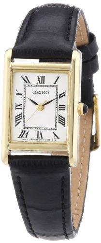 Seiko Damenuhr Analog Quarz mit Lederarmband - SXGN56P1 (Seiko Gold Armbanduhr Chronograph)