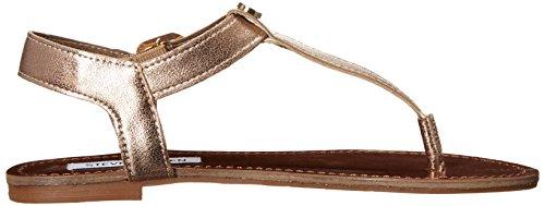 Steve Madden Damen Hiwayy Sandalen Gold Leather