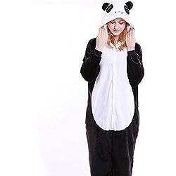 IFLIFE Kigurumi Pijamas Unisexo Adulto Traje Disfraz Adulto Animal Pyjamas M(Para Altura:159-168cm), Panda
