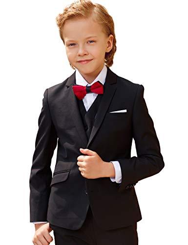 ungen Smoking Anzug Kinder Kostüme dünne Klage Formelle Abnutzung, Schwarz, 16 ()