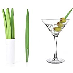 Party Food Fresh Leaf Cocktail Picks Set of 10 (With Free Token)