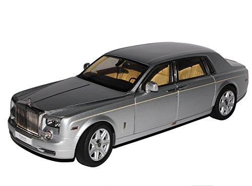 Kyosho Rolls Royce Phantom Silber 1/18 Modell Auto mit individiuellem Wunschkennzeichen - Modell Phantom Rolls-royce
