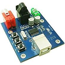 FengYun® Tarjeta de sonido USB Descodificador DAC USB de entrada de fibra coaxial Decodificador de tarjeta de sonido HIFI USB decodificador de chip Fuente de alimentación USB