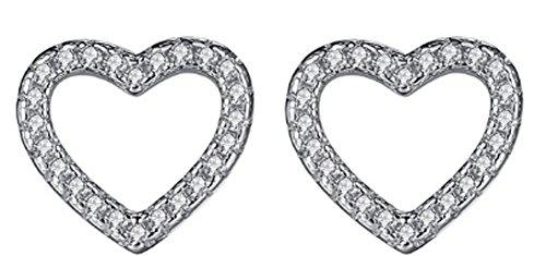 saysure-925-sterling-silver-love-heart-shape-stud-earrings