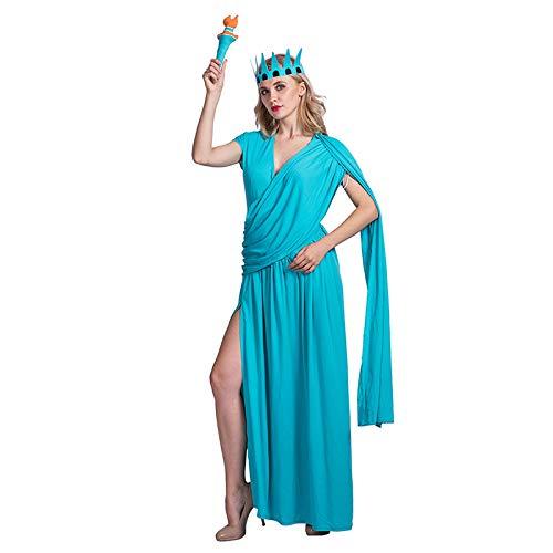 thematys Freiheitsstatue Kleid 3-teilig Kostüm-Set für Damen