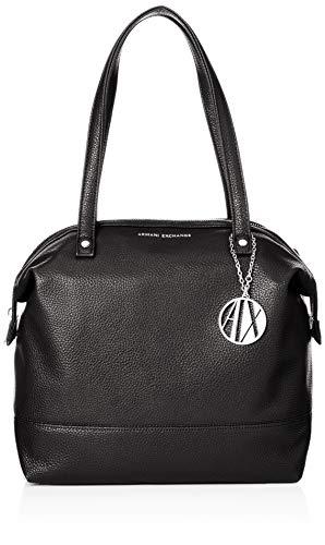 ARMANI EXCHANGE Tote Bag Leather - Borse Donna, Nero (Black), 31x16x52 cm (B x H T)
