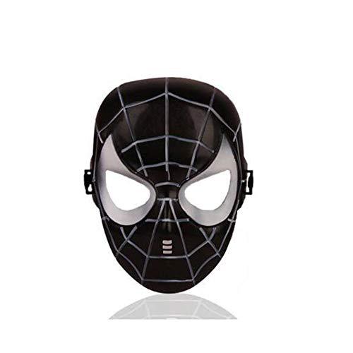 (ZHANGXLMM Halloween Maske Cartoon Cartoon Spider-Man Iron Man Kapitän Amerikanischen Spalte Optimus Cosplay Dress up Ball,Black)