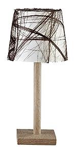 Kahlert 10.227 luz - Muñeca Mini Accesorios - Lámpara de pie Holzfuss Escudo de plástico