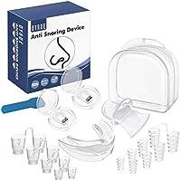 Dyroe Dispositivos Anti Ronquidos 4 in 1,8pcs Dilatador Nasal,2pcs Clips Nasales Magnéticos,Retenedor de lengua y Férula de dientes para Ayudar a Dormir Mejor,Dejar De Roncar