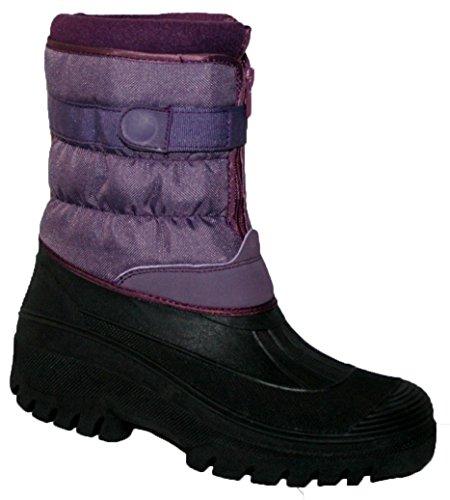 Velcro chaussures bottes Quilt bottes Femme hiver neige Purple Yard Capacité stable Fqx14wa4t8