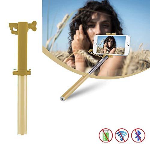 X-Tab Selfie Stick für MEDION Life E5020 Selfie Stange Stick Halterung Mini Handy - UStick Gold