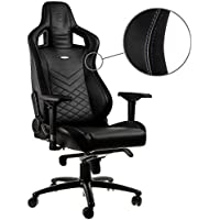 noblechairs EPIC Gaming Chair - Black/Blue with Vegan Friendly PU Leather, 2 Year Warranty, Up to 180KG Users, Perfect for an Executive Office Chair, Racing Seat Design