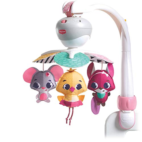 Tiny Love Mobile de Voyage Musical 3 en 1 pour Bébé, 5 Mélodies, Compatible avec les Poussettes, dès la Naissance, Collection Princesse