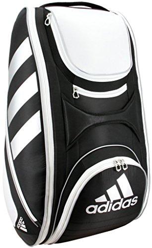 adidas Tour Tennis 12Schläger Tasche, Schwarz/Weiß/Silber, One Size