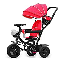 TyneeTM KIDS TRICYCLE 4 IN 1 TRIKE STROLLER BUGGY BAR PUSH BIKE + ROTATING SEAT
