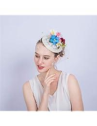 Yiwuhu Elegante Cappello Fascinator da Donna Ascot Royal del Cocktail della  Piuma del Fiore del Copricapo df593b95bbf3
