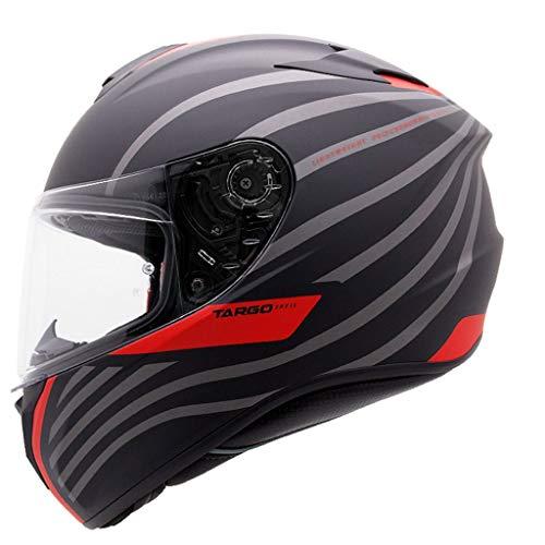 ZJJ Helm- Vollsichtiger Unisex-Helm, Regen- und UV-Schutzhelm, transparente Linse (Farbe : Rot, größe : XXL)