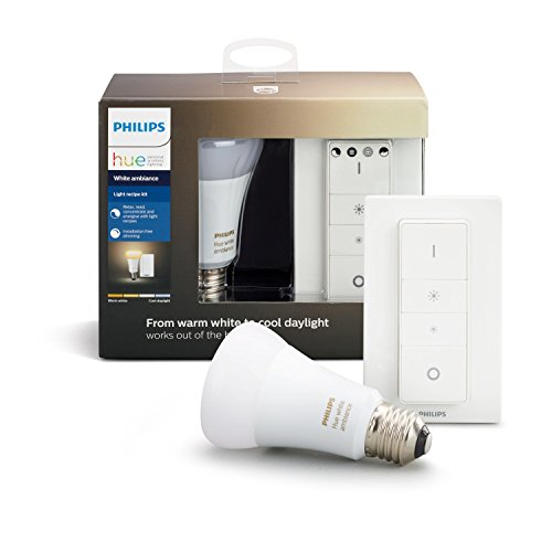 Philips Hue White Ambiance Light Recipe Kit, E27 LED-Lampe inkl. Dimmschalter, dimmbar, alle Weißschattierungen, steuerbar via App, kompatibel mit Amazon Alexa (Echo, Echo Dot)