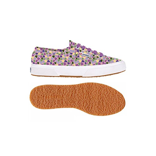 Superga - 2750 Fantasy Cotu, Sneaker Donna ROMANTIC HEARTS PINK