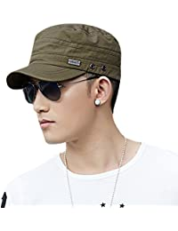 Siggi 100% Cotton Lightweight Classic Army Caps Military Hats For Men With Adjustable Strap (4 Colours)