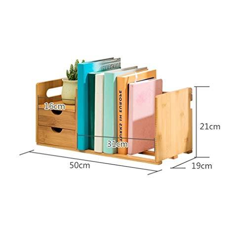 Chooseator Regal Regal Bücherregal mit 2 Schubladen für einfache Aufbewahrung Schränke, CD-Aufbewahrung, Nutzung des Platzes -