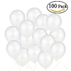 Idea Regalo - OULII Palloncini lattice bianco di metallico, 12 pollici, confezione da 100