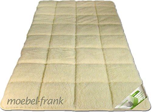 Unterbett Lammflor mit Merino Schurwolle Auflage Matratzenauflage Lukas, Größe:100x200 cm