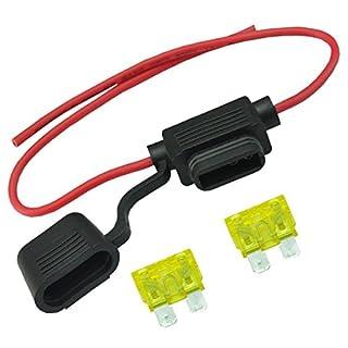 Autosicherungen AutoEC, Blade Sicherungshalter 20 A ATC ATO In-Line-Stecker wasserdicht mit Kabel