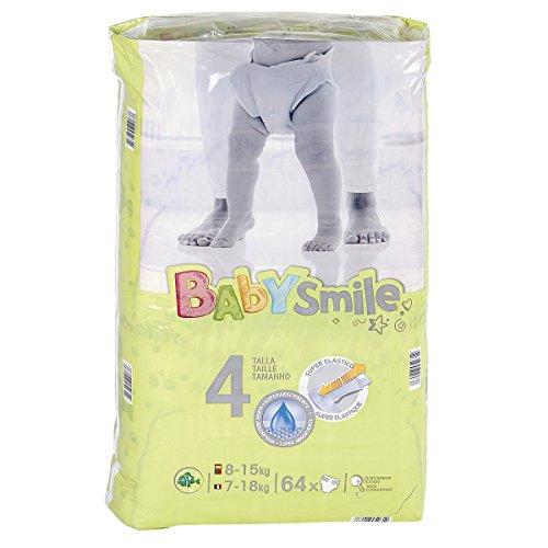 BABYSMILE - Pañales talla 4 (8-15 kgs), 64 uds