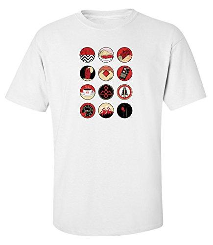 ilm t-shirt herren baumwoll weiss (L) (Film Charakter-masken)