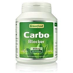 Greenfood Carbo Blocker, Extrakt, 450mg, hochdosiert, 120 Kapseln, vegan