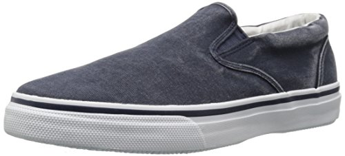 Sperry Top-Sider Striper Slip On Navy, Baskets Basses Homme Bleu (Navy)
