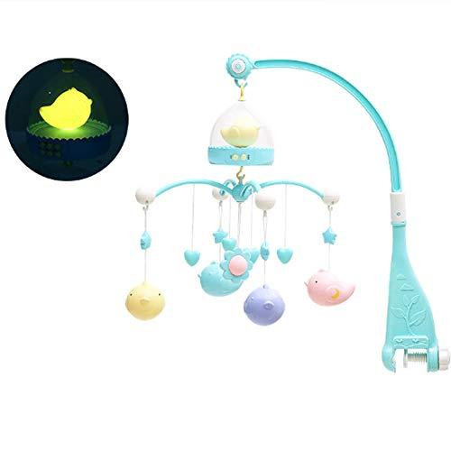 BONNIO Baby Krippe Musical Mobile Cot Bell Spieluhr mit Lichtern und Musik Kinderzimmer Dekor Baby Spielzeug Geschenk