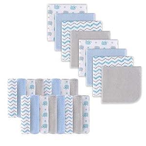 Babywaschlappen, Extra weiches und ultra saugfähiges Badetuch, Große Geschenke für Neugeborene und Säuglinge 24 Pack