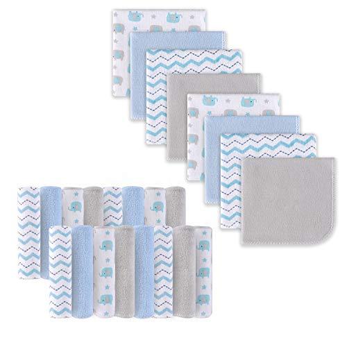Babywaschlappen, Extra weiches und ultra saugfähiges Badetuch, Große Geschenke für Neugeborene und Säuglinge 24 Pack, Elefant -