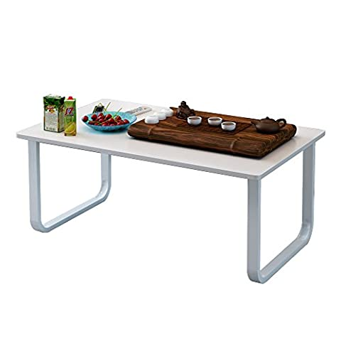 Soges Coffee Table 100x60cm Rectangular Coffee Table with Shelf Storage