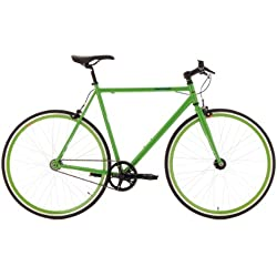 """KS Cycling Flip Flop 110R - Bicicleta fixie, color verde, ruedas 28"""", cuadro 53 cm"""