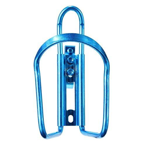 ULTNICE Sostenedor de taza aluminio ligero aleación botella de agua jaula para el ciclismo en bicicleta azul