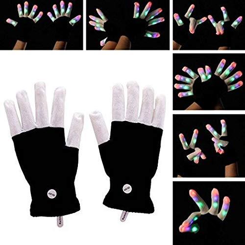 Blinkenden Finger Handschuhe 7 Mode Bunte Licht Halloween Weihnachten Liefert Geschenke Bühne Show Club Bar Kostüm ()