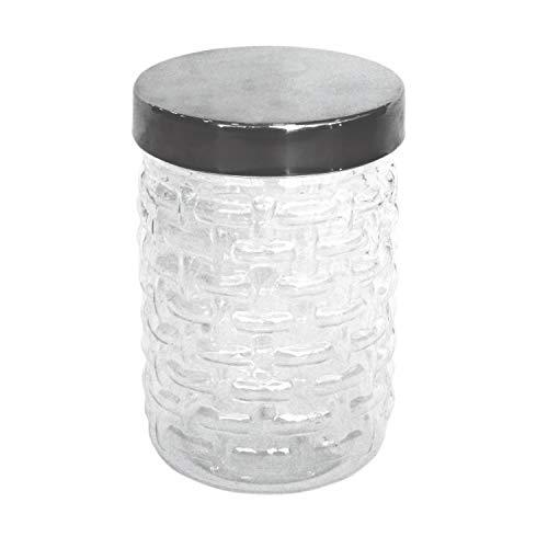 Princeware Frischhaltedose aus Kunststoff, transparenter Boden mit Chrom-Effekt-Deckel, 500 ml