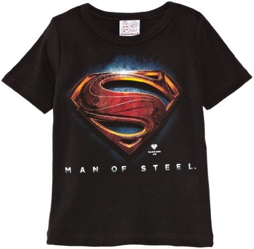 Logoshirt - Kids Shirt Superman-Man Of Steel Logo, T-Shirt bambini e ragazzi, Black, 11 Years (Manufacturer Size:140/152) (Taglia produttore: Manufacturer Size:140/152)