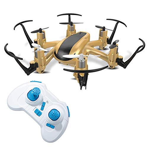 Traioy 2.4G 4CH 6 Axis RC Helicopter Remote Control Quadcopter Mini Drone Aircraft Modeless RtF Hexa-Copter Indoor Originale,Gold