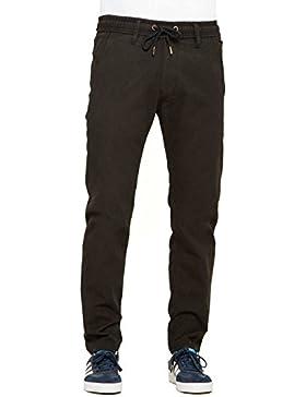 Reell - Pantalón - para hombre Black Canvas W34