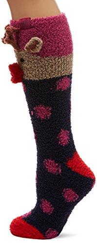Joules Women's Festive Fluffy Slipper Socks, 100 Den