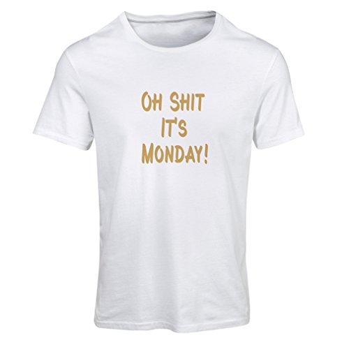 N4068F T-shirt female Oh shit its Monday gift Bianco Oro